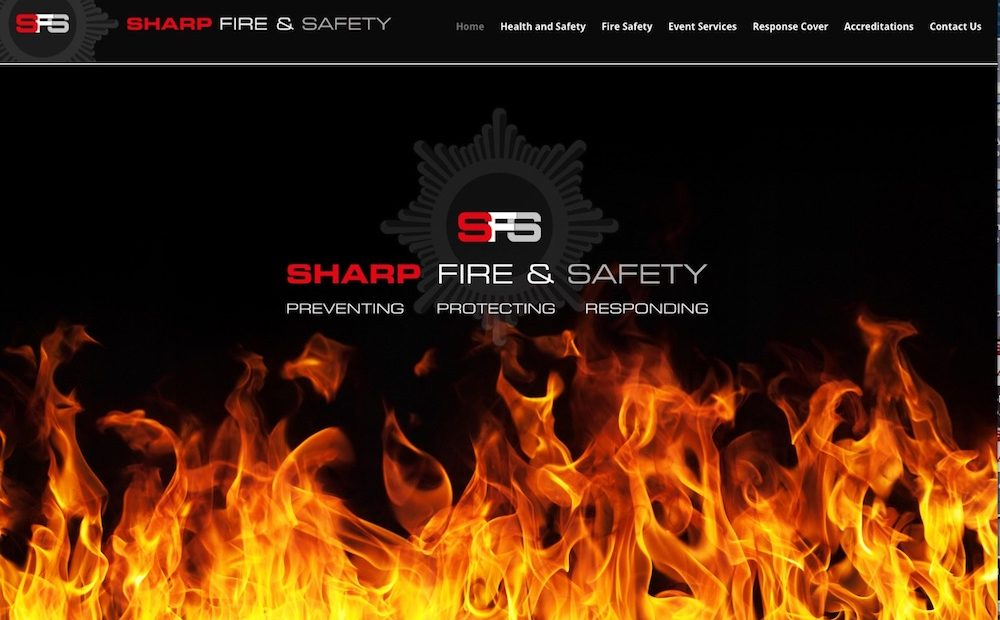 Sharp Fire & Safety website
